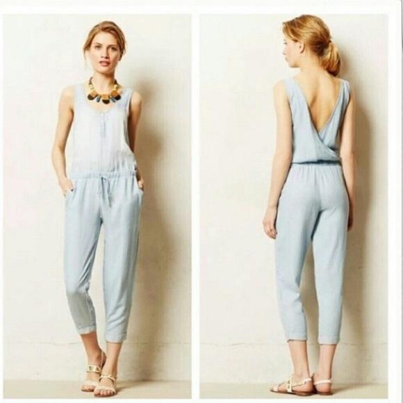 94f0366d9e83 Anthropologie Pants - Cloth   Stone Light Olive   Seafoam Jumpsuit